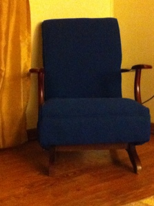 A chair belonging to the writer's grandmother