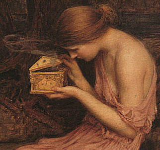 John William Waterhouse, Psyche opening the golden box , 1903.